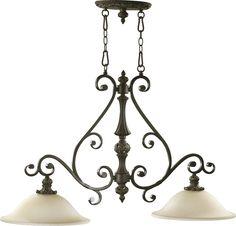 South Shore Decorating: Quorum Lighting 6532-2-54 Fulton Traditional Kitchen Island Light QR-6532-2-54