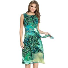 Women's Tie Back Multicolored Sleeveless Dress | Overstock™ Shopping - Top Rated Amelia Casual Dresses
