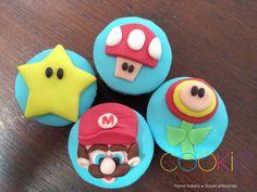 mini cupcakes decorados - tema vídeo game retro - mario