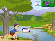 Subtraction fishing game for SMARTBoard Fun Math, Math Games, Math Activities, Maths, Subtraction Games, Addition And Subtraction, Kindergarten Math, Teaching Math, Online Posters