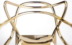 The Precious Masters chair in gold was released in #Milan and designed by Philippe Stark.