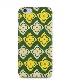 Yellow and Grey Flowers Abstract Seamless 3D Iphone Case for Iphone 3G/4/4g/4s/5/5s/6/6s/6s Plus - ABSTSEAM0166 - FavCases