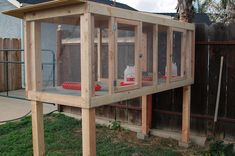 I like the elevated coops Backyard Chicken Coops, Diy Chicken Coop, Backyard Farming, Chickens Backyard, Quail Pen, Quail Coop, Duck Coop, Chicken Cages, Chicken Pen