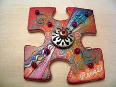 Peace altered art puzzle piece | artkissed/MaryEllen Pawlak via Flickr