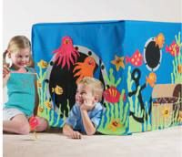 {Accessories} {Activities} Under the sea Playhouse & Fishing Game Transform an ordinary card table in to a fabulous undersea world for kids to enjoy. Includes a fishing game Sewing For Kids, Diy For Kids, Gifts For Kids, Baby Sewing, Teen Projects, Sewing Projects, Sewing Crafts, Card Table Playhouse, Table Tents