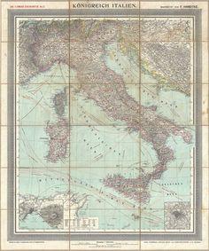 Antique Maps of Italy : Rare Antique Maps