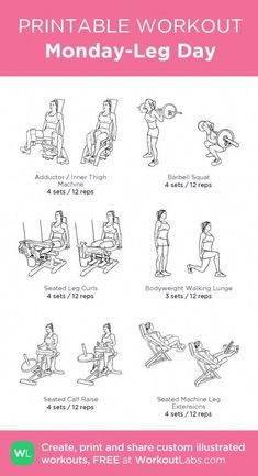 workout plan for beginners ; workout plan to get thick ; workout plan to lose weight at home ; workout plan for women ; workout plan to tone ; workout plan to lose weight gym Fitness Workouts, Workout Hiit, Leg Day Workouts, Fun Workouts, Gym Machine Workouts, Weight Lifting Workouts, Workout Plans, Weekly Gym Workouts, Weight Machine Workout