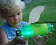glow bugs - empty soda bottle decorated & then a glow stick put inside :)  PRESCHOOL?