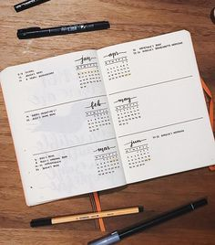 Bullet Journal Future Log: Six Month Overview