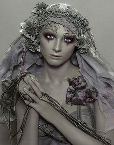 Gray editorial fashion photograph
