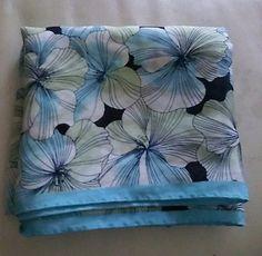 ANN TAYLOR LOFT Vintage Blue Floral Hankie Bandana Handkerchief Keep With Lady  , $8.99 + #freeshipping
