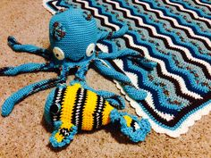 Look what washed up on the beach!  Blanket pattern found at www.babywagz.etsy.com     #baby #nursery #crochet #pattern #blanket #ripple
