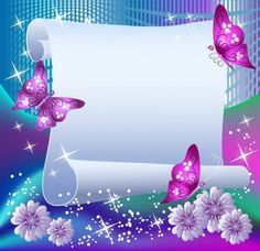 Illustration of Magic background with paper, butterflies and a place for text vector art, clipart and stock vectors. Magic Background, Dream Background, Butterfly Background, Photo Background Images, Butterfly Wallpaper, Paper Background, Butterfly Mobile, Boarder Designs, Page Borders Design