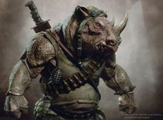 """Conceptual artist, Tsvetomir Georgiev (""""Green Lantern""""), posted concept art he created for Michael Bay's Teenage Mutant Ninja Turtles and the images include designs for three super-villains that did not appear in the film: Krang, Bebop and Rocksteady. Ninja Turtles Art, Teenage Mutant Ninja Turtles, Tmnt, Bebop And Rocksteady, Martial, The Villain, Gi Joe, Les Oeuvres, Comic Art"""