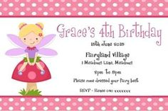 Girl fairy invite