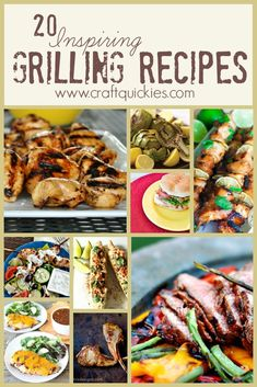 20 fabulously inspiring grilling recipes to try!  YUM!  Great variety in this roundup!