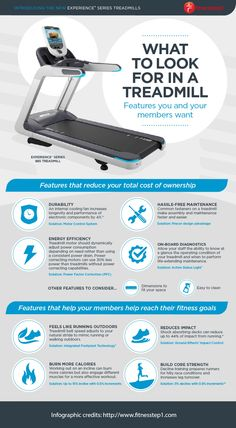 What to Look for in a Treadmill Infographic