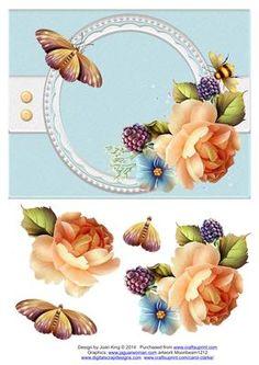 Peach Rose on Craftsuprint - Add To Basket!