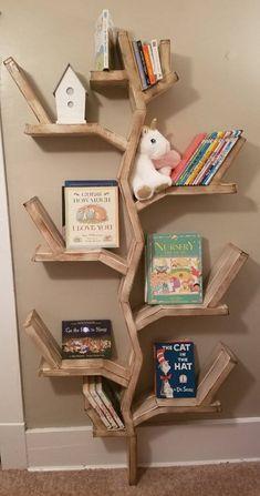 Tree Bookshelf Rustic Bookshelf Rustic Tree Shelf Tree Tree Bookshelf Rustic Bookshelf Rustic Tree S Tree Bookshelf, Nursery Bookshelf, Rustic Bookshelf, Tree Shelf, Bookshelves Kids, Bookshelf Design, Bookcase Decorating, Diy Bookshelf Wall, Bookshelf Ideas