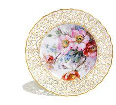 Тарелка, живопись цветов по профессору  Браунздорф, лимитированные произведения искусства, ø 21 cм