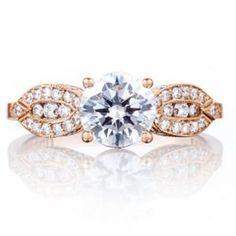 Shop online TACORI 2648RD65PK Vintage 18K - Rose Gold Diamond Engagement Ring at Arthur's Jewelers. Free Shipping