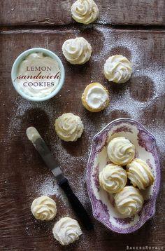 Lemon Sandwich Cookies via Bakers Royale