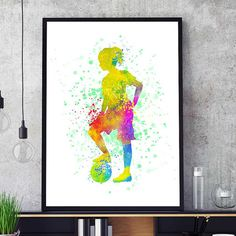 Soccer Kid Girl Sports Print Soccer Team Gift Soccer por PointDot