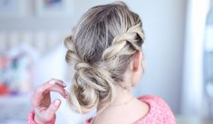 Twist Back Messy Bun | Cute Girls Hairstyles