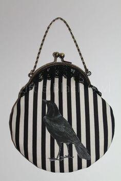 Raven handbag by TheLittleBlackOwl on Etsy
