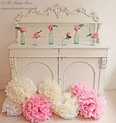 Our chiffonier styled for a #vintagewedding...