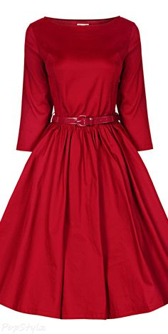 Women's 'Holly' Vintage Audrey Hepburn 3/4 Sleeve Dress