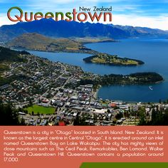 "Queenstown - New Zealand : Queenstown is a #city in ""Otago"" located in #South #Island, New Zealand. It is known as the #largest #centre in #Central ""Otago"", it is erected around an inlet named Queenstown #Bay on #Lake #Wakatipu. The city has mighty views of close #mountains such as The Cecil Peak, Remarkables, Walter Peak and Queenstown Hill.   _____________________________   #travel #kiwitravel #queenstown #flightstoqueenstown  #flightstonewzealand New Zealand Flights, New Zealand Cities, Queenstown New Zealand, Lake Wakatipu, Central Otago, South Island, Centre, Wine"