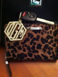 Cute monogrammed keychain! Even though I won't get a car for my birthday this would be perfect for when I do.