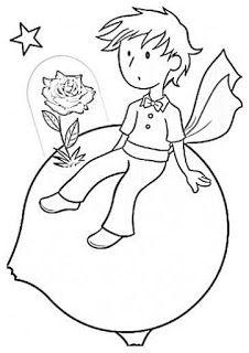 BAUZINHO DA WEB - BAÚ DA WEB : Desenhos O pequeno Príncipe para colorir, pintar, imprimir!!!