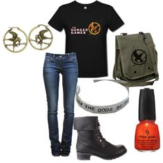 The Hunger Games fan outfit
