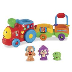 Fisher-Price Laugh & Learn Puppy's Smart Train learning songs, tunes & phrases Includes Smart Stages technology – learning changes as baby grows 3 levels of play offer fresh songs, phrases & sounds for your little one's age & stage Baby Learning, Learning Toys, Help Baby Crawl, Toddler Toys, Kids Toys, Toddler Girls, Homemade Pedialyte, Fisher Price Baby Toys, Crawling Baby