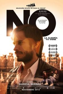 Preceded by Tony Manero and Post Mortem, No completes Pablo Larrain's loose trilogy about life under Chilean dictator, Augusto Pinochet. Albeit conceived in strong historical and political context; this story is a barefaced tale centered on young advertising executive, René Saavedra (portrayed with flair by enigmatic chameleon, Gael García Bernal) — thus making the film accessible to a wide range of foreign viewers.