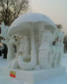 awesome snow art 17 Epic snow sculptures in time for the holidays Photos) Snow Sculptures, Sculpture Art, Winter Fun, Winter Snow, Amazing Photo Gallery, Ice Art, Ice Castles, Snow Art, Umbrella Art