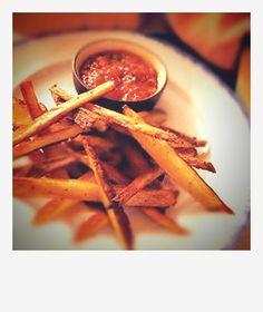 Easy gluten-free potato sticks with homemade salsa