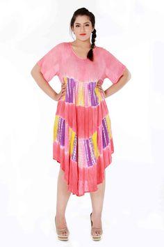 rose tie-n-dye dress