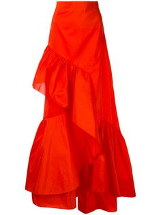 Peter Pilotto taffeta flamenco skirt