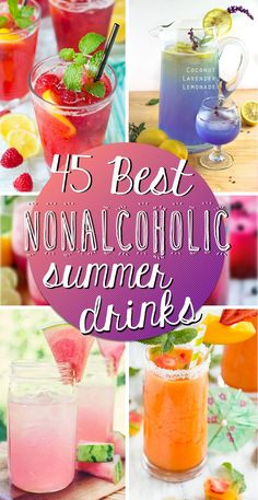 45 Best Nonalcoholic Summer Drinks Come and see our new website at bakedcomfortfood.com!