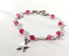 Bracciale a rosario rosa con stella bracciale di AnotherLAgrein