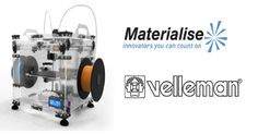 Velleman partners with @materialisenv for Customized Build-Your-Own Vertex #3DPrinter!  _______________ #velleman #3dprinting #3dprint #3dprinted #vertex #k8400 #software #vertexk8400 #vellemanvertex #vellemank8400