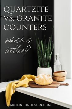 What is the best option between granite vs. quartzite counters? Find out in this post and make the decision yourself! Remodeling or building a new home? Let me help you choose the right countertop for your home. Interior Decorating Tips, Interior Design Tips, Building A New Home, White Kitchens, Granite Counters, Kitchen Photos, Beautiful Kitchens, Remodeling, Kitchen Design