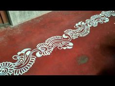Rangoli Side Designs, Rangoli Designs Latest, Rangoli Borders, Small Rangoli Design, Rangoli Designs Images, Mehndi Design Images, Rangoli Designs With Dots, Rangoli Designs Diwali, Beautiful Rangoli Designs