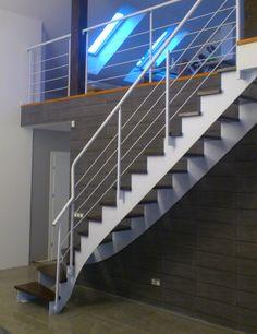 Stalowe schody nowoczesne - realizacja Opole