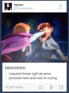 Tumblr Disney funny frozen anna and hans