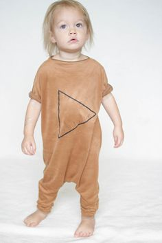 Very Soft Brown Romper Harem style romper Print by AnchoreDeep