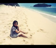 me and beach #indonesia